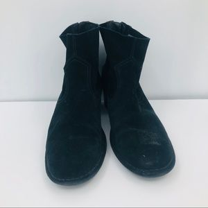 UGG women's black suede ankle boots size 11